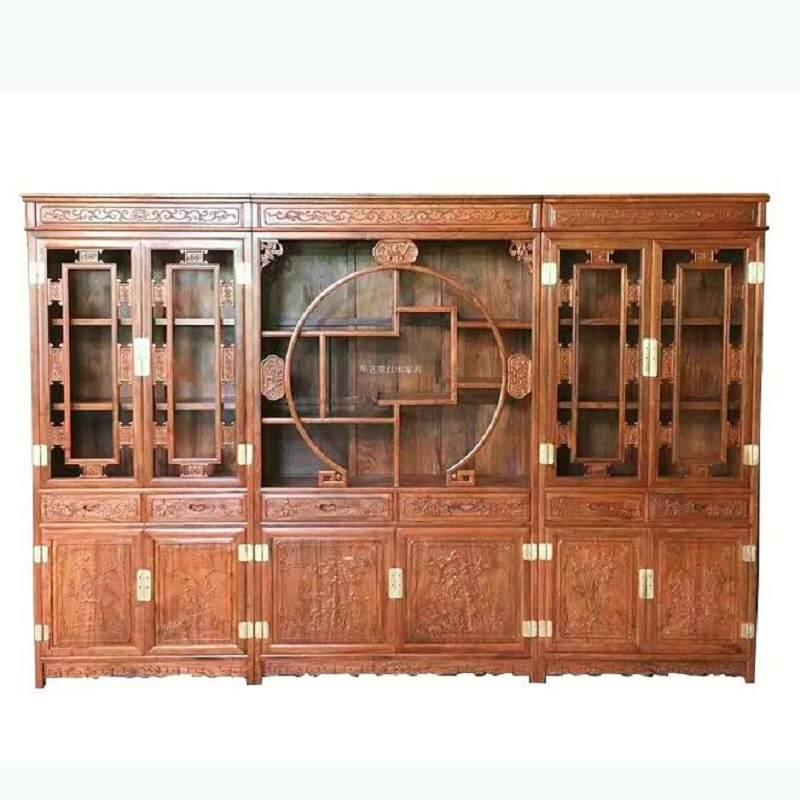 红木办公桌 非洲花梨木中式书桌办公桌书柜组合