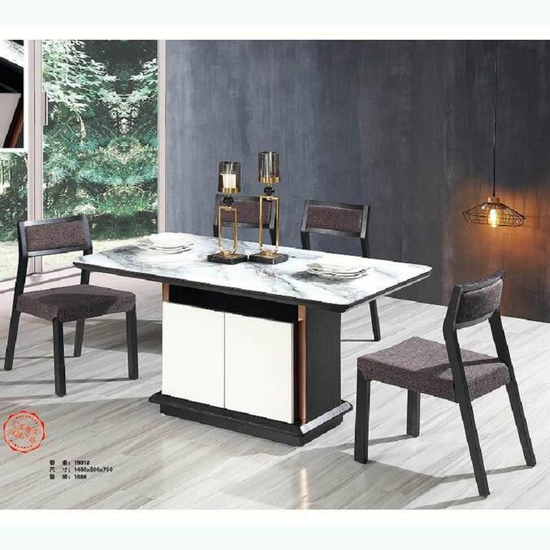 大理石餐桌椅组合现代简约小户型饭桌意式轻奢饭桌子家用北欧餐桌