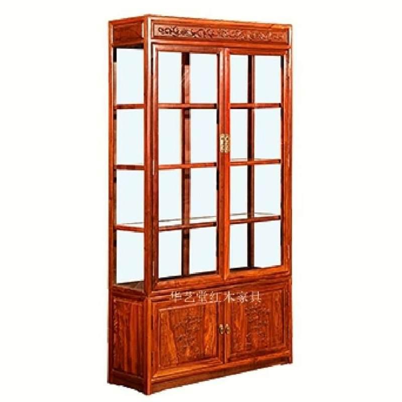 红木玻璃柜 刺猬紫檀花梨木隔厅柜 储物柜 实木门厅柜酒柜 客厅柜