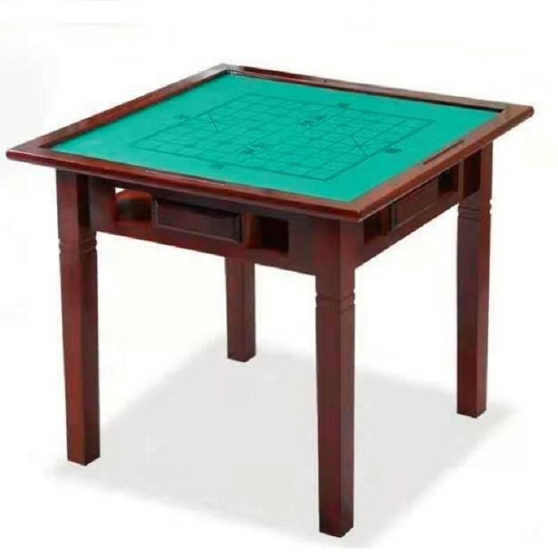 家用实木麻将桌子简易手搓麻将桌宿舍餐桌两用桌棋牌桌麻将台