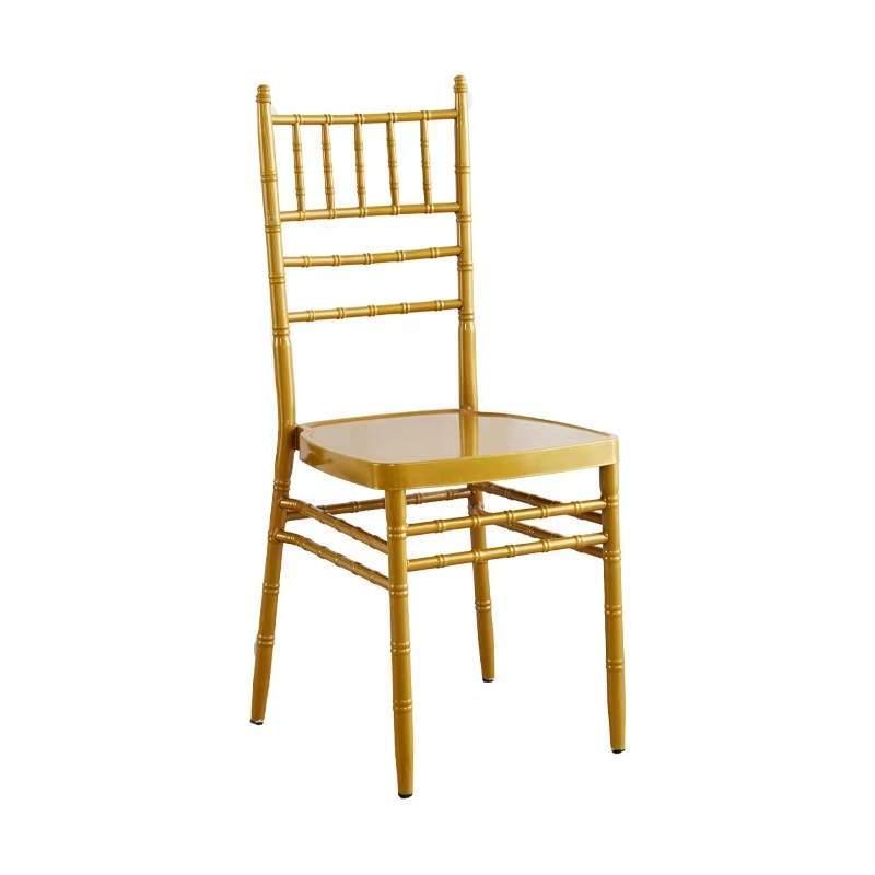 竹节椅子户外草坪婚礼椅子结婚婚庆椅宴会椅白色金色竹节椅酒店椅