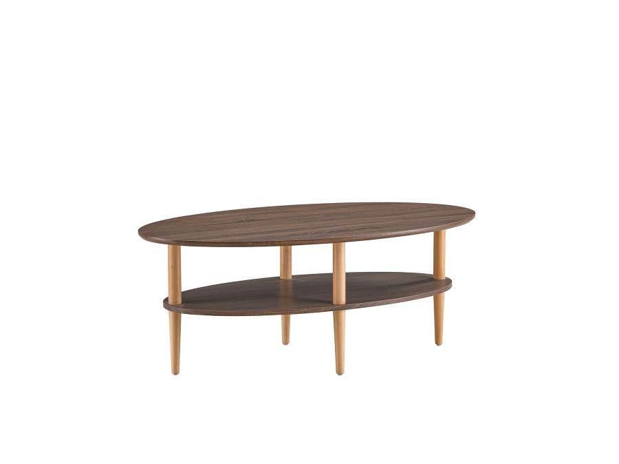 小户型客厅双层客厅茶几 简约现代创意实木休闲小茶桌子