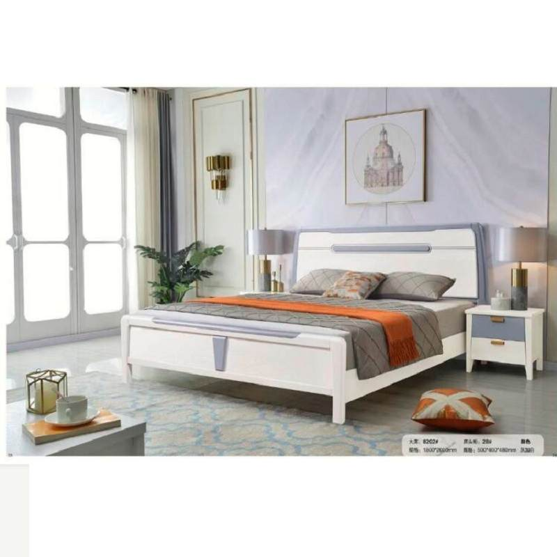 中式实木床1.8米现代主卧轻奢双人床1.5米