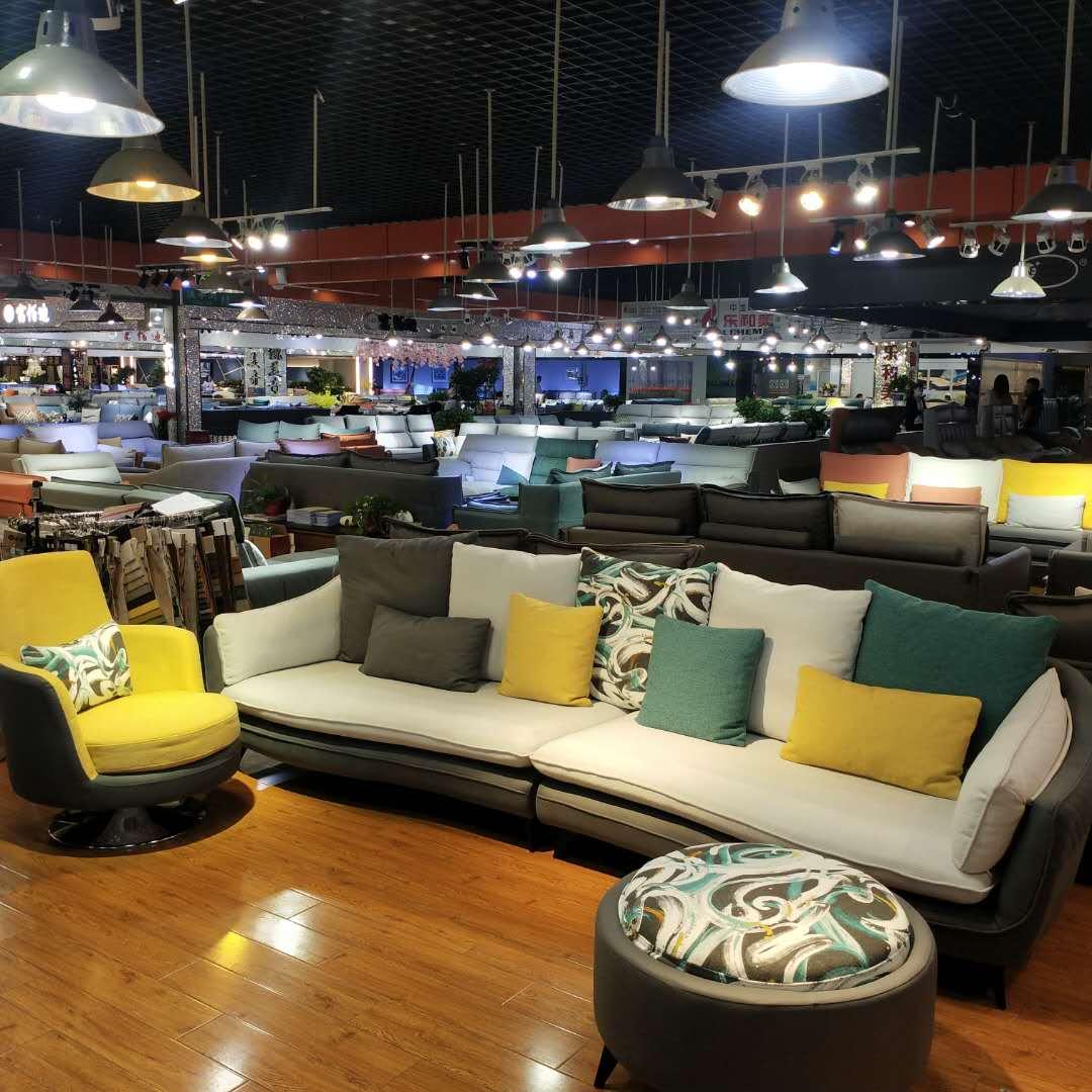美式轻奢布艺沙发客厅组合套装北欧简约现代科技布沙发家具