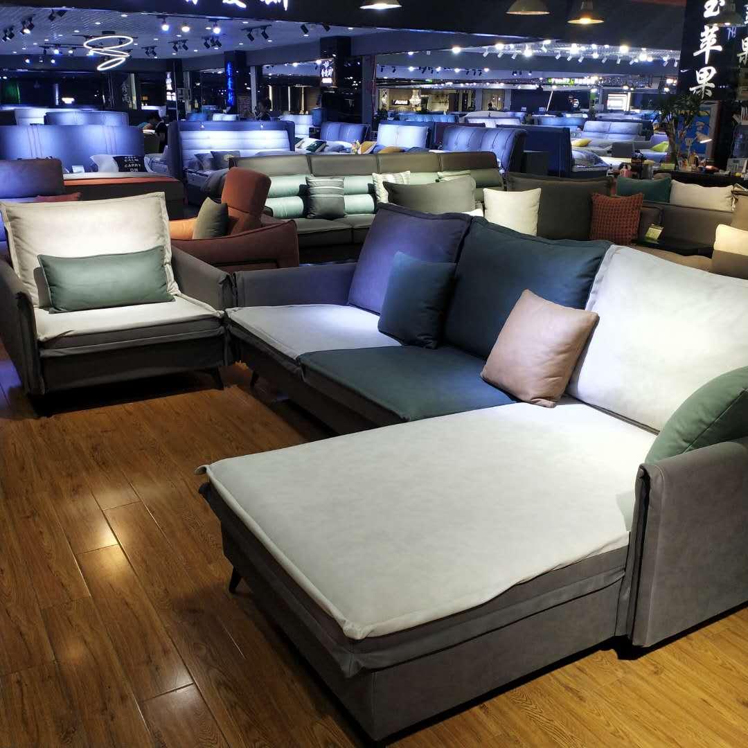 新中式实木沙发转角组合现代中式客厅大户型布艺可拆洗
