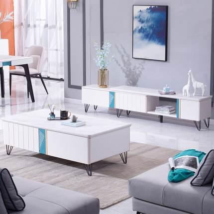 新款北欧电视柜茶几组合现代简约风格小户型客厅极简家用套装地柜