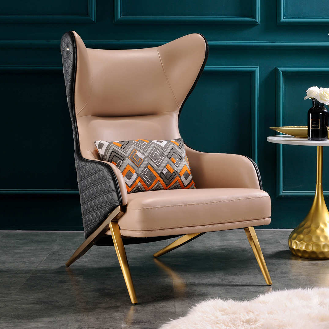 现代轻奢老虎椅美式单人沙发椅子懒人阳台卧室休闲椅小户型家具