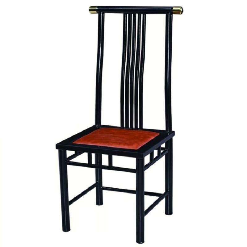 新中式酒店椅餐椅饭店包厢椅宴会餐厅复古现代古典风铁艺主题餐椅