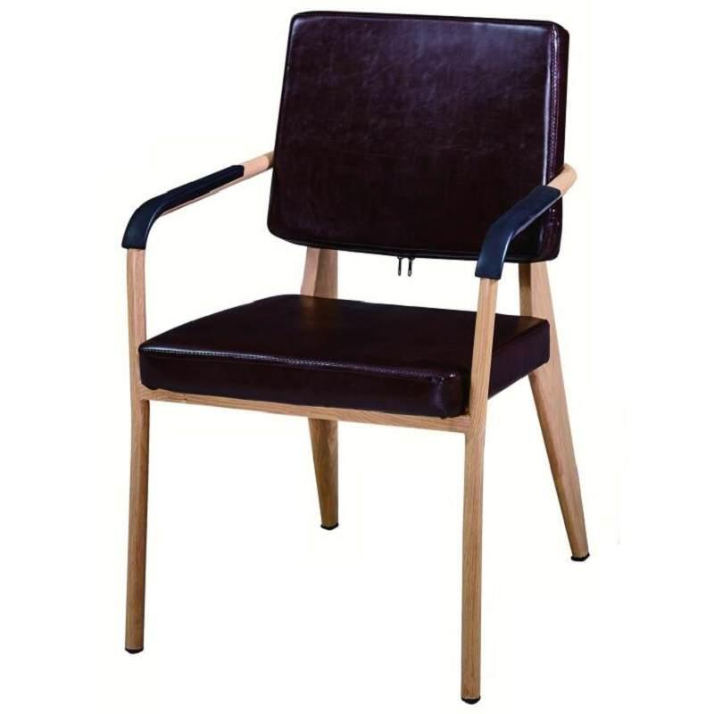 北欧轻奢餐椅铁艺休闲椅洽谈接待书桌餐厅靠背凳椅子家用现代简约