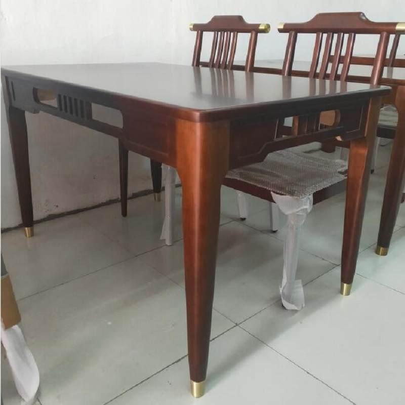 新中式餐桌小户型北欧折叠家用橡木吃饭桌现代简约小方桌餐桌椅