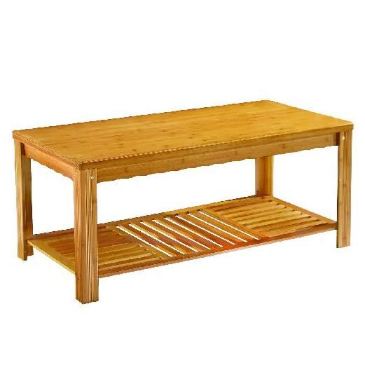 双层茶几客厅日式茶桌楠竹小户型家用长条矮桌子北欧简约创意茶台