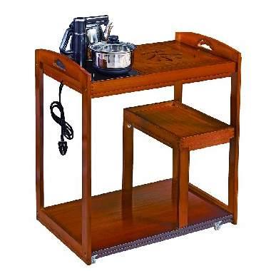 红木家具刺猬紫檀茶桌花梨木茶水柜中式仿古实木功夫茶台小茶边几