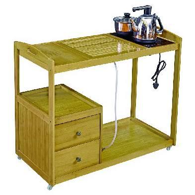 仿古架储茶几茶桌饮水机置物楠竹小柜子功夫茶架收纳落地物柜茶水 预订款