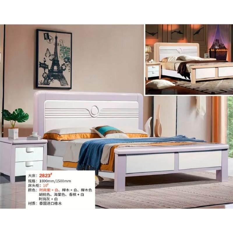 泰国进口橡木床1.8米1.5米男女孩青少年卧室套房家具
