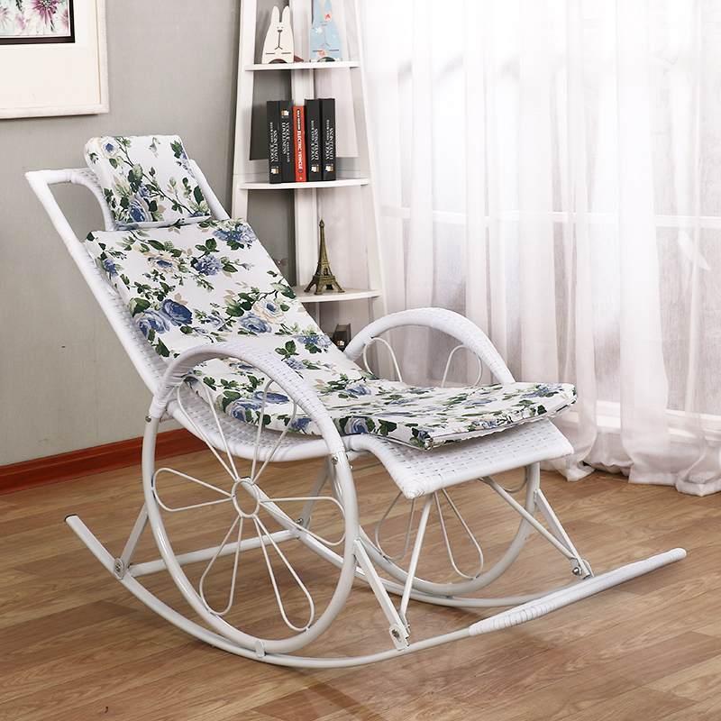 摇椅躺椅摇摇椅逍遥椅老人椅懒人椅休闲阳台午睡椅藤椅简约摇椅子