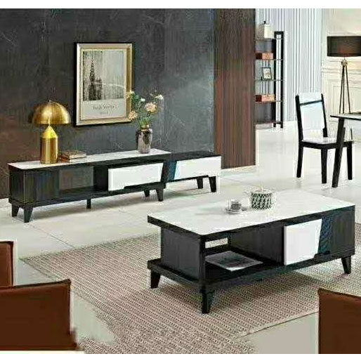 火烧石茶几电视柜组合餐桌椅玻璃石茶几小户型北欧茶几现代简约