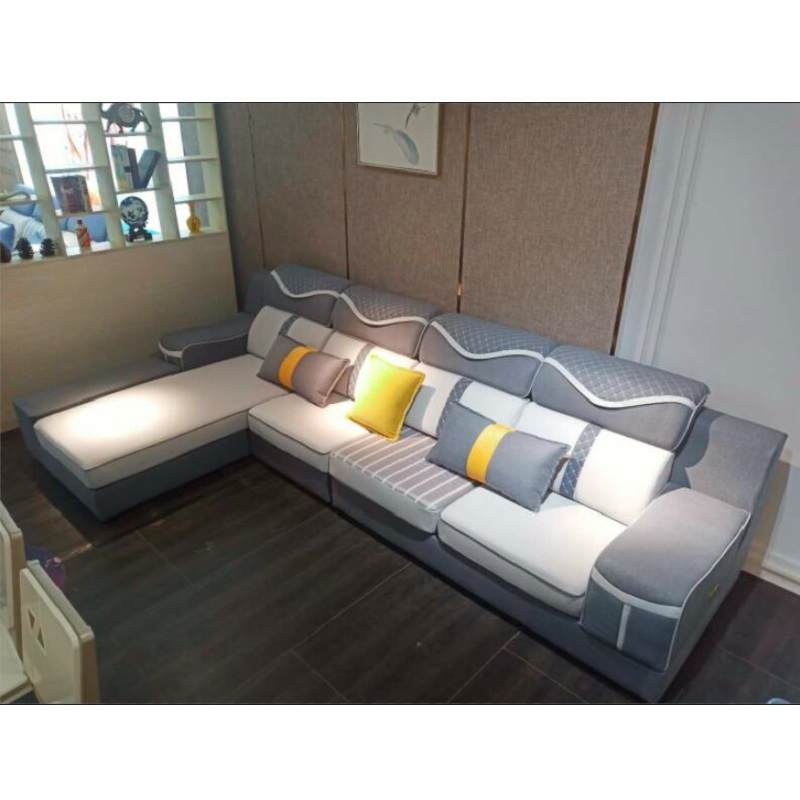 布艺沙发大小户型组合家用三人贵妃客厅可拆洗简约整装家具沙发