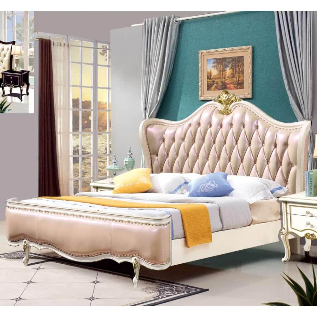欧式床实木双人床1.5米1.8米橡木床现代简约主卧床婚床储物公主床