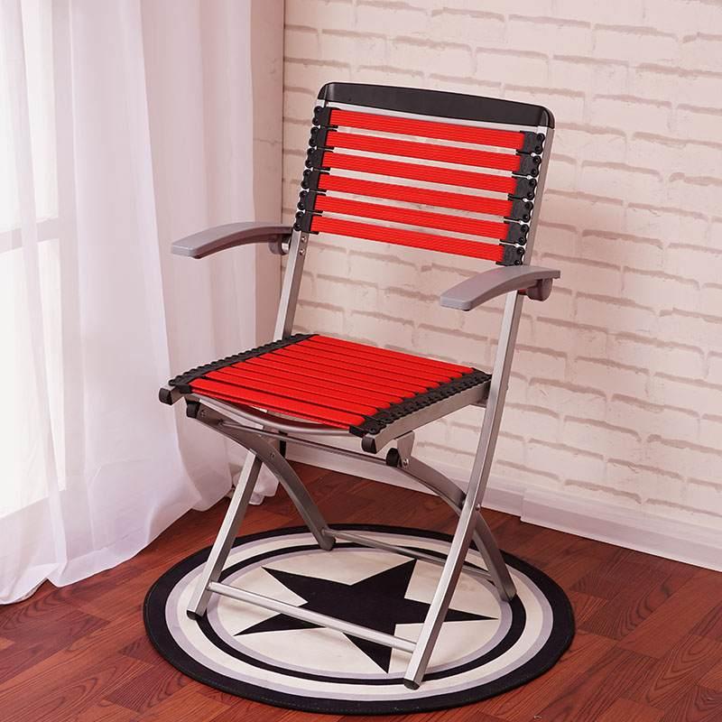 厂家直销健康椅折叠凉椅棋牌麻将家用电脑办公会议培训透气橡皮筋凳子