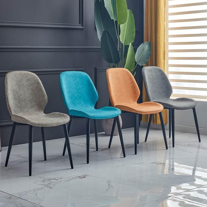 餐椅现代简约家用餐厅北欧轻奢雷达椅子靠背软包皮椅ins网红凳子