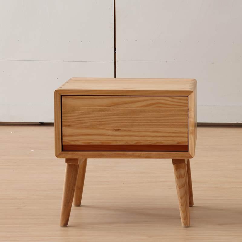 北欧床头柜收纳柜整装全实木储物柜迷你卧室边柜白蜡木沙发边角几