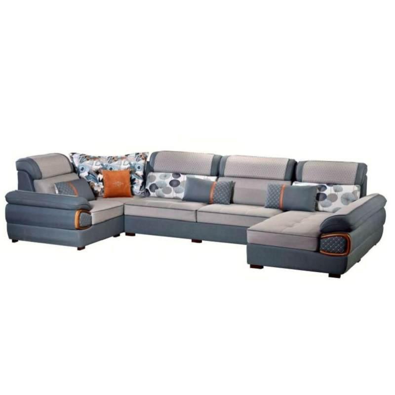 布艺沙发组合客厅现代简约大小户型贵妃转角可拆洗北欧科技布沙发