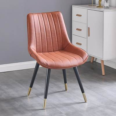 北欧轻奢餐椅家用靠背椅现代简约餐桌椅休闲椅书桌椅酒店软包椅子