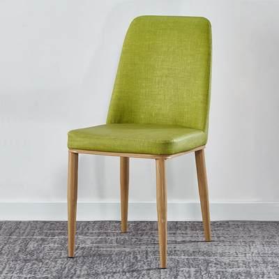 北欧家用椅子简约现代饭店靠背椅卧室书桌椅餐厅酒店铁艺餐椅凳子