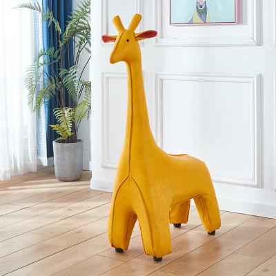 长颈鹿坐凳大号落地客厅萌宠动物换鞋凳皮质凳子摆件乔迁节日礼物