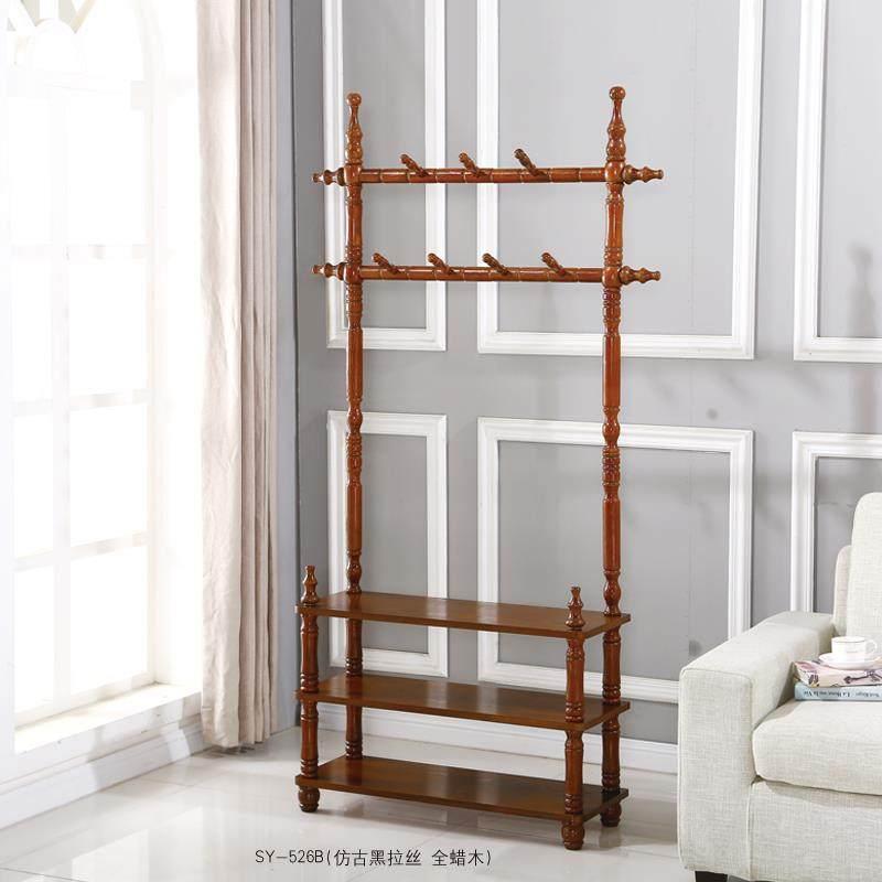 实木衣帽架落地挂衣架 卧室门厅家用办公室衣服架木质欧式