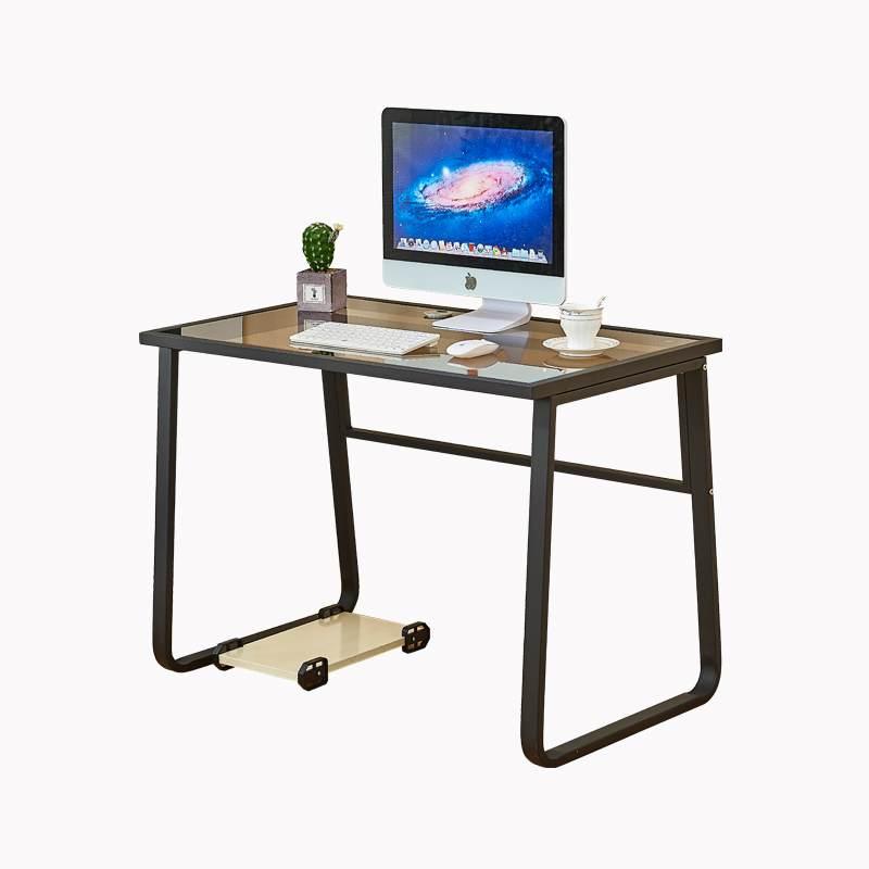 家用电脑桌台式钢化玻璃简约书房卧室化妆桌学生简易写字台桌书桌