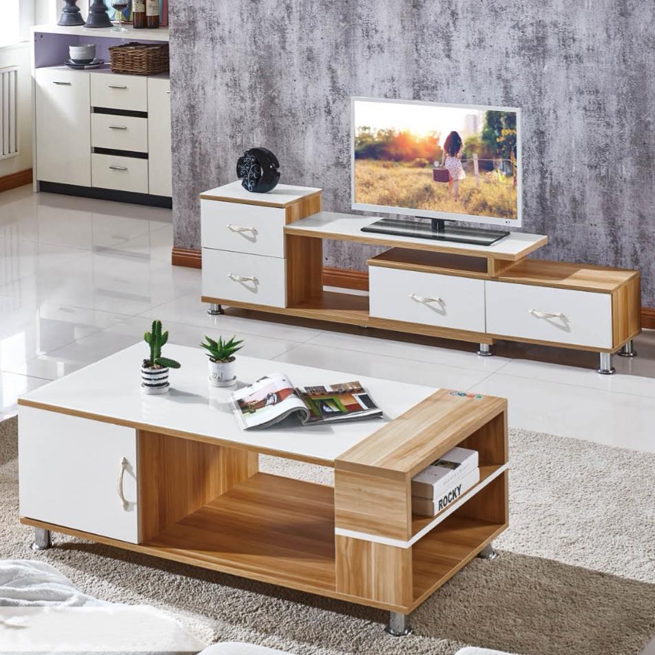 北欧茶几电视柜组合套装简约现代客厅迷你简易伸缩电视机柜小户型