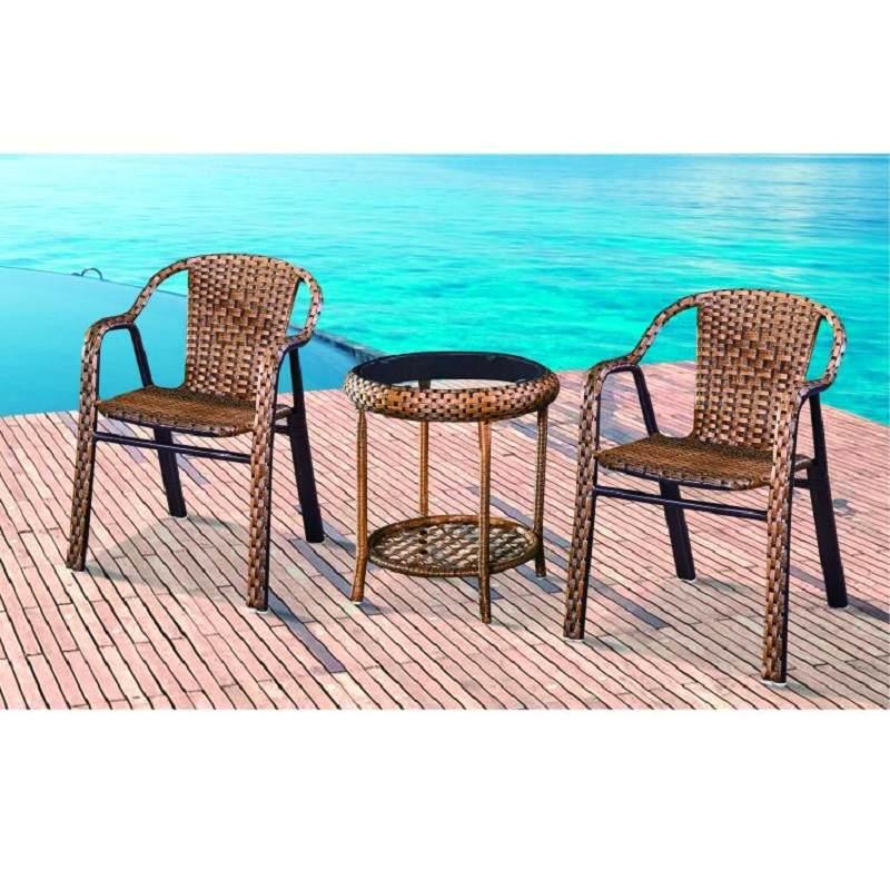 藤椅三件套家用阳台小桌椅组合简约休闲户外腾椅子茶几单人靠背椅