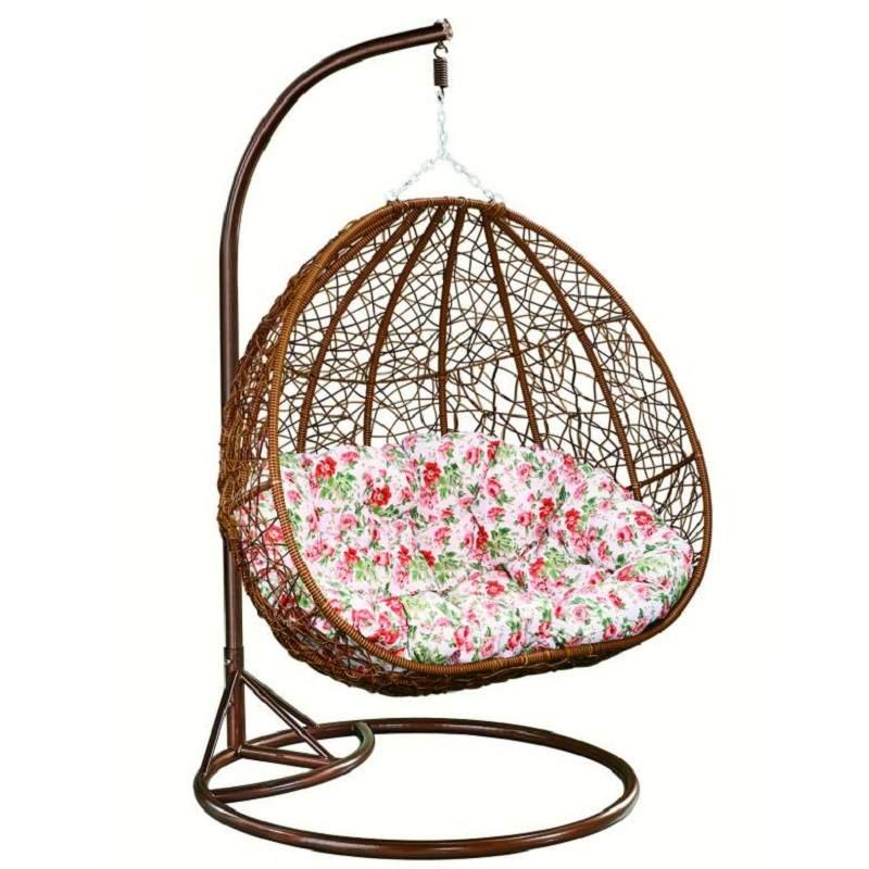 双人吊篮藤椅成人室内家用鸟巢阳台秋千吊椅吊兰懒人摇篮椅带脚踏