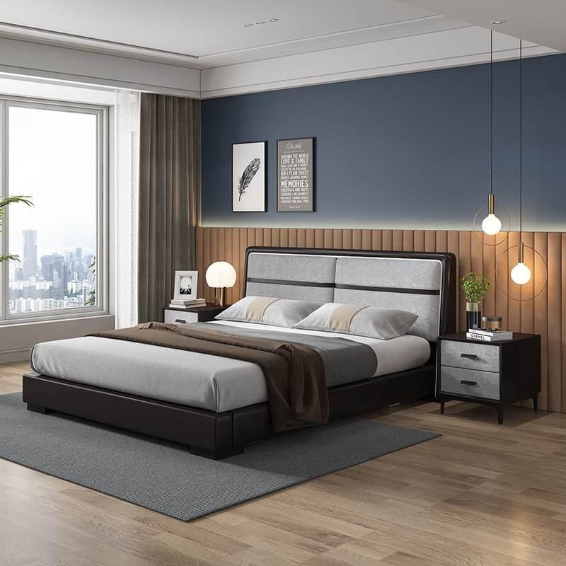 现代简约北欧布艺床卧室1.8米双人床小户型家用轻奢风格厂家直销