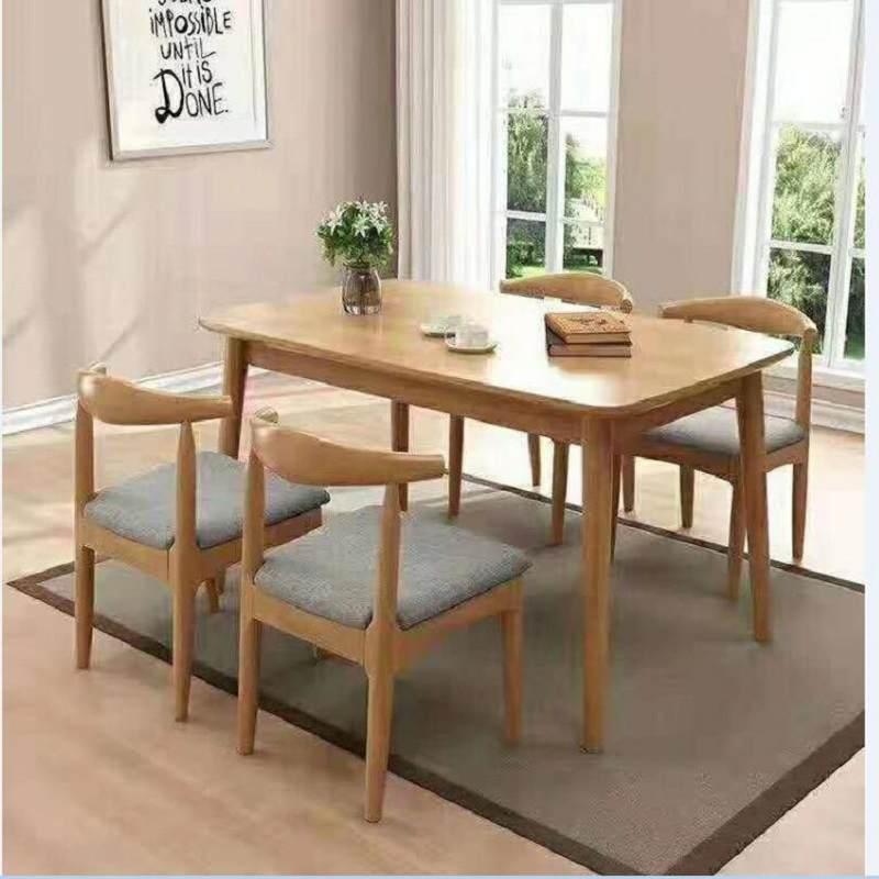 简约现代北欧实木餐桌椅