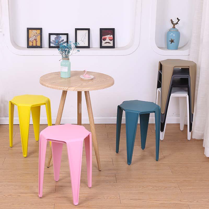 塑料凳子加厚成人餐桌凳时尚创意高凳餐凳椅子家用凳彩色方凳板凳
