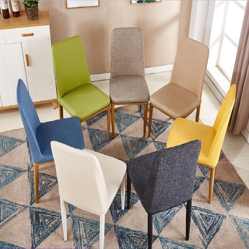 北欧餐椅成人现代简约餐椅时尚酒店餐椅餐桌铁艺软包椅子家用椅子