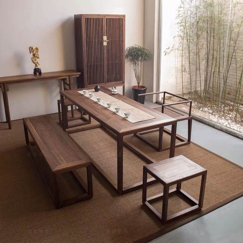 新中式实木茶桌组合5件套