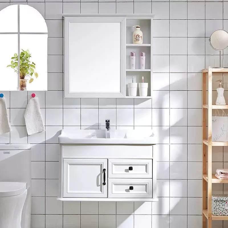 台上盆蹲便浴室柜两用清洗置物架单人柱式配件柜子中式一对
