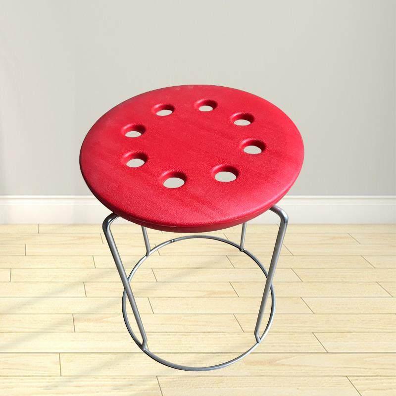 时尚简易钢筋圆凳子塑料面家用
