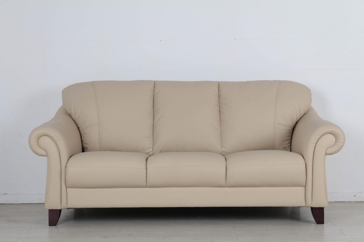 欧式风格1人2人3人位意大利头层牛皮沙发