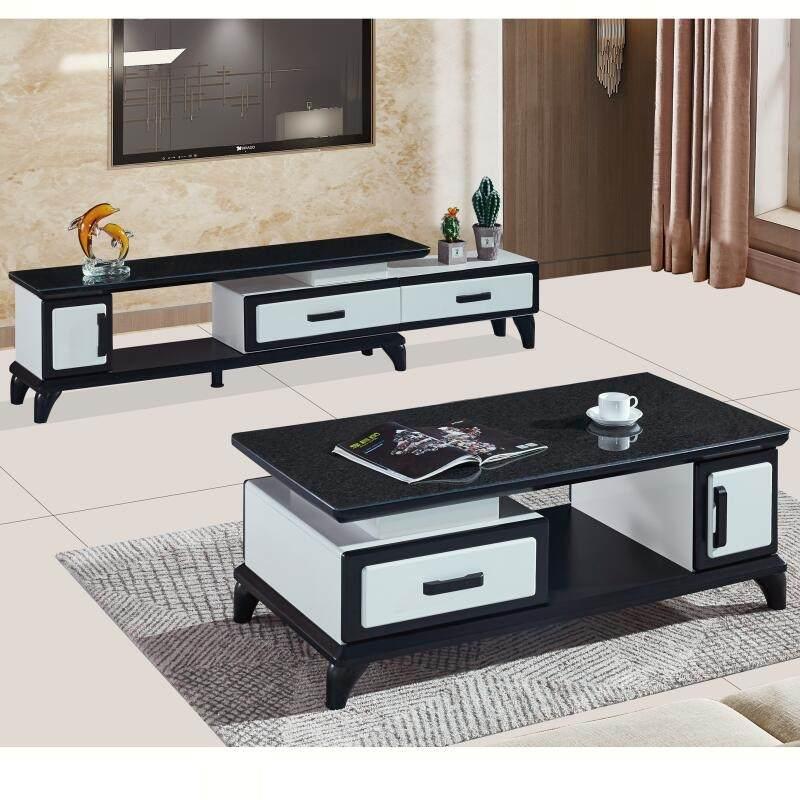 电视柜茶几组合套装客厅玻璃伸缩卧室简易电视机柜现代简约小户型