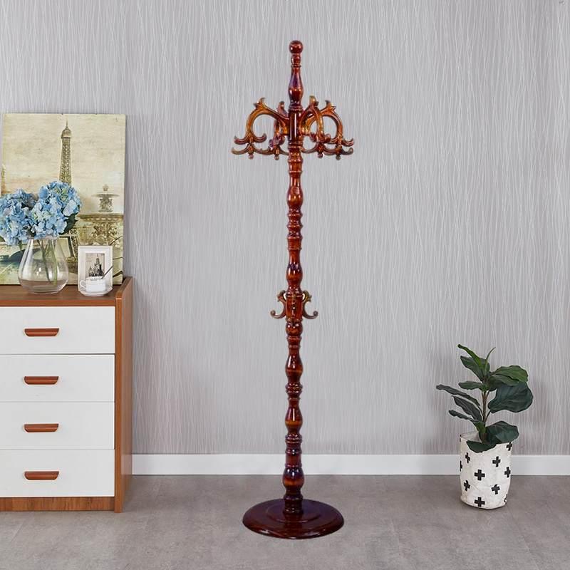欧式落地实木衣帽架卧室客厅挂衣架时尚创意衣服架组装门厅挂衣架