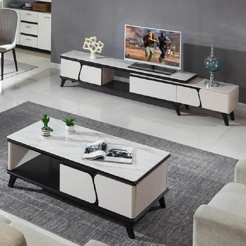 天然大理石玻刚石中式茶几电视柜钢化玻璃实木环保烤漆小户型新品