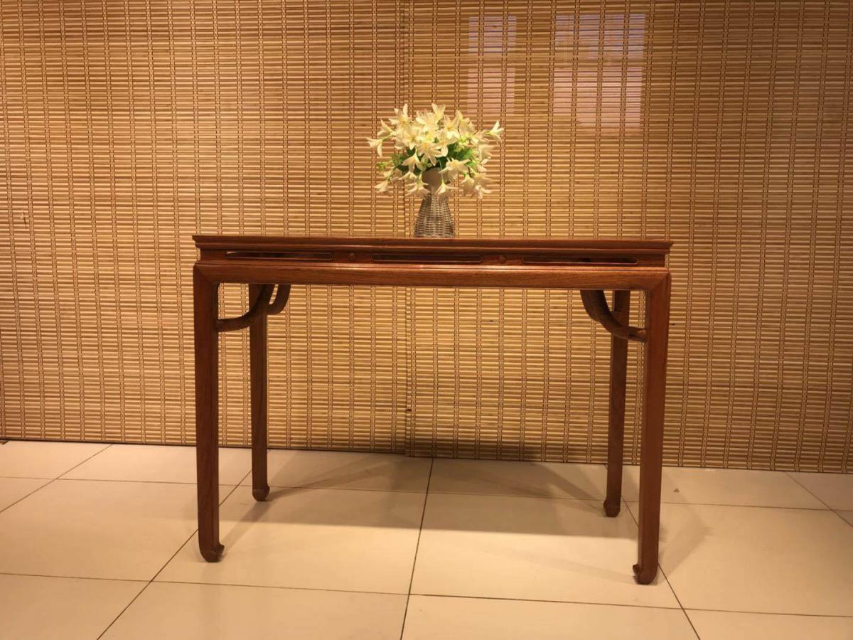 大果紫檀平头条案,门厅实木供桌条案,古老榫卯制作工艺