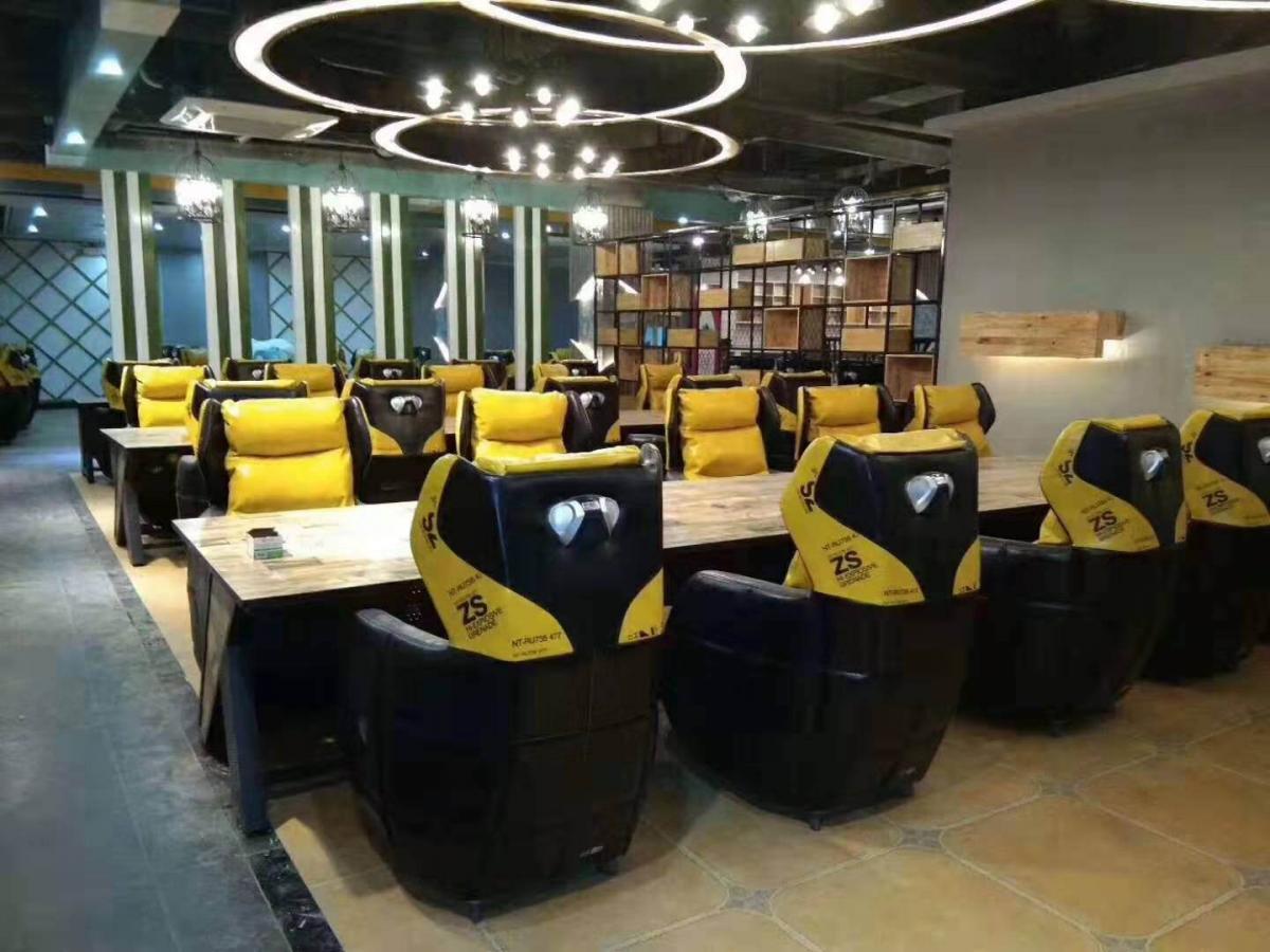 网吧桌椅网吧沙发椅单人网咖电竞桌游戏家用懒人沙发座椅厂家直销