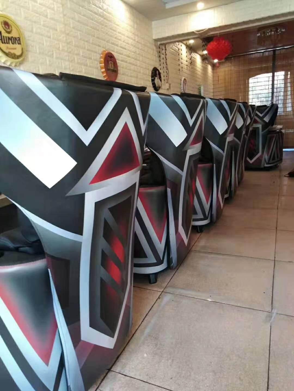 新款简易电脑桌台式家用电竞桌椅网吧游戏办公桌网咖宽大竞技沙发