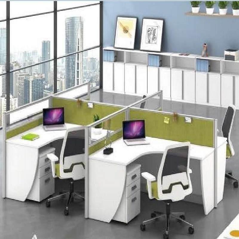 职员办公桌简约现代员工桌隔断屏风卡座办公桌椅组合办公家具