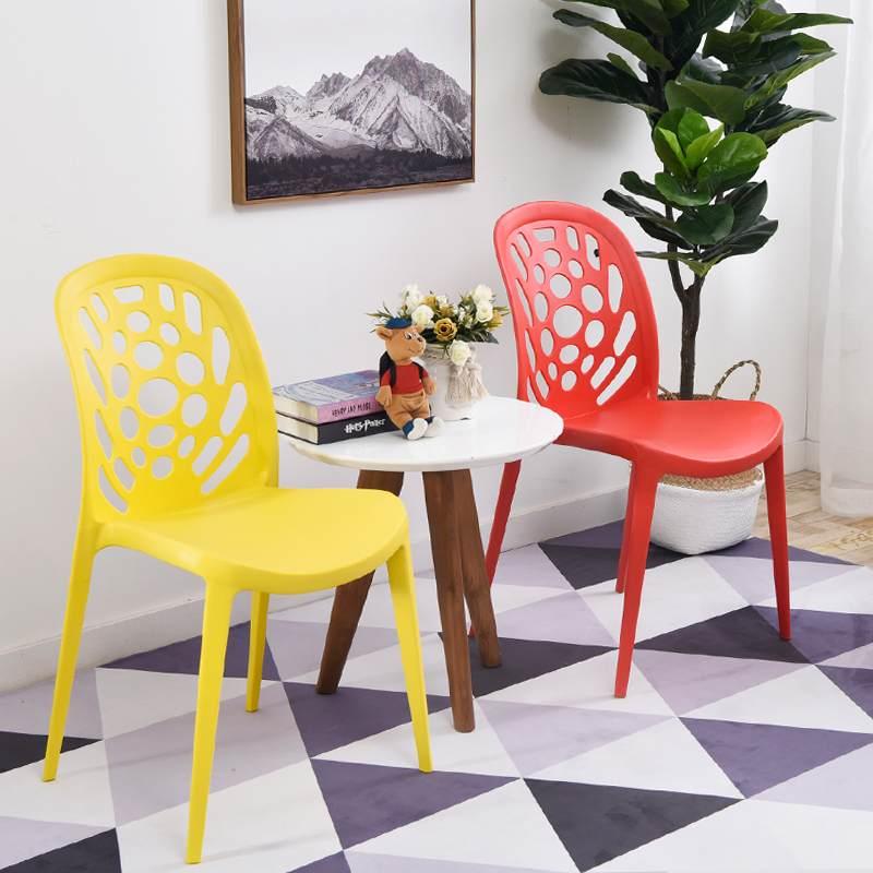 创意塑料椅 简约家用办公椅 时尚会议培训镂空靠背椅婚庆活动椅子